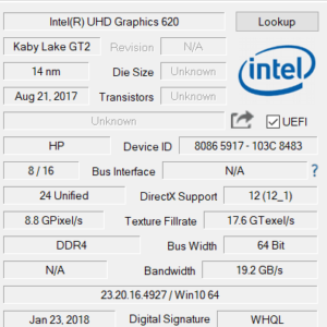 HP ENVY 15 x360 グラフィックス