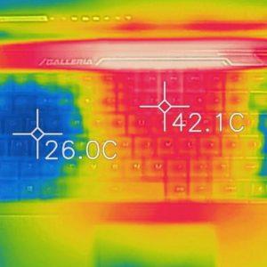 GALLERIA GCF2060-E 本体の温度