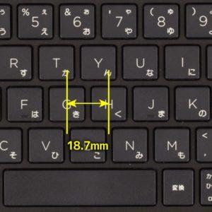 HP 17-by0000 キーピッチ