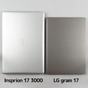 LG gram 17 (17Z990) サイズ比較