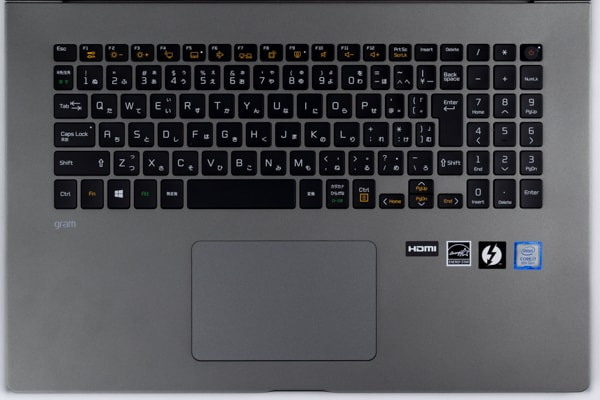 LG gram 17 (17Z990) キーボード