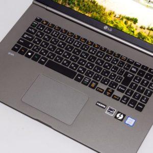 LG gram 17 (17Z990) キーボード面