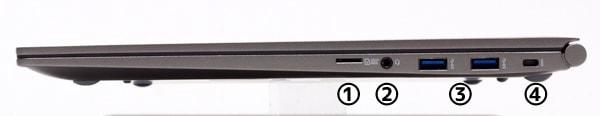 LG gram 17 (17Z990) 右側面