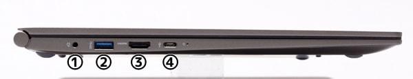 LG gram 17 (17Z990) 左側面