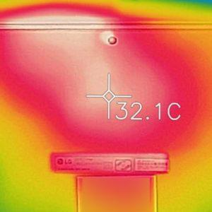 LG gram 17 (17Z990) 底面部の熱