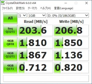 GALLERIA ST HDDのアクセス速度