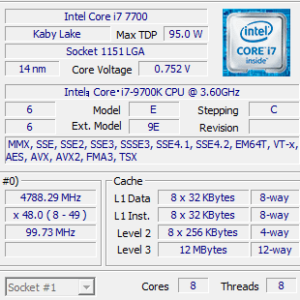 GALLERIA XF CPU