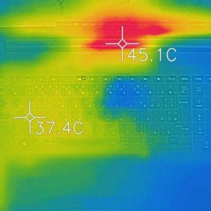 HP 250 G7 本体の温度