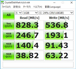Ideapad S130 (11) SSDのアクセス速度