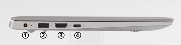Ideapad S130 (11) 左側面