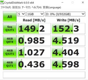 VAIO S15 HDDのアクセス速度