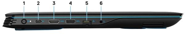 Dell G3 15 (3590) 左側面