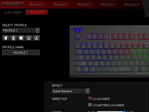 X1 RGB プロファイル