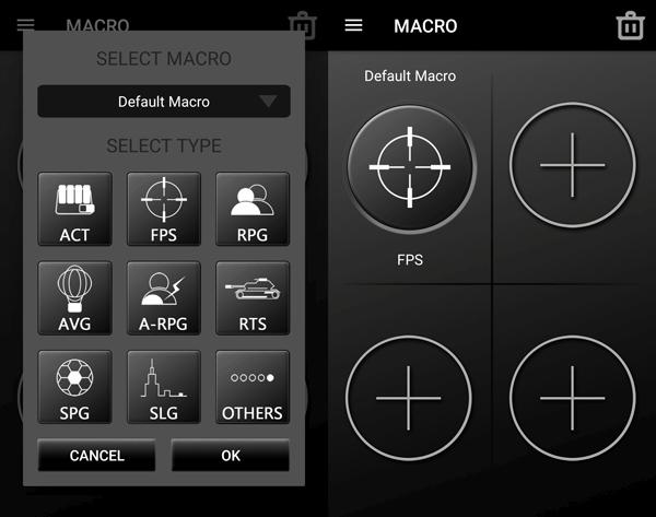 X1 RGB アプリでマクロ