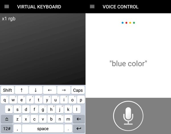X1 RGB キーボードや音声の操作