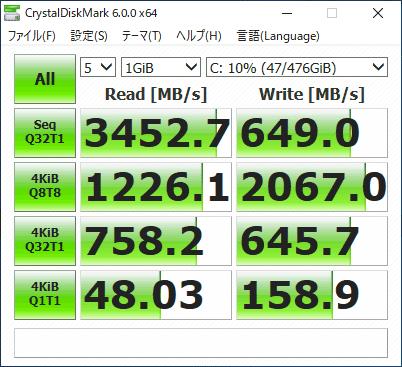 GALLERIA GCR2070RGF-E SSD