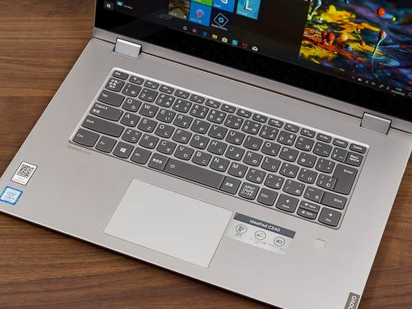 IdeaPad C340 (15) キーボード面