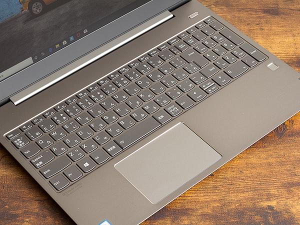 IdeaPad S540 (15) キーボード面