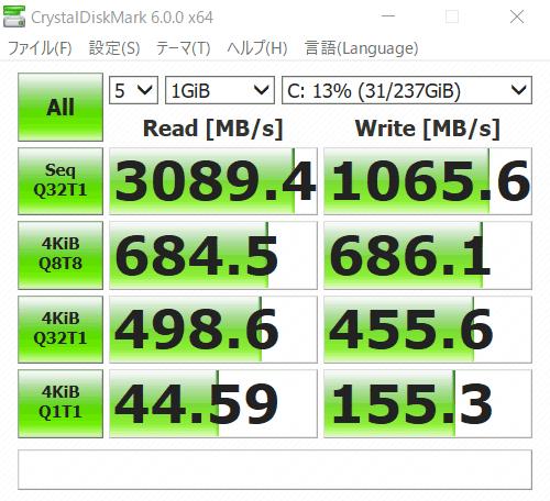 IdeaPad S540 (15) アクセス速度