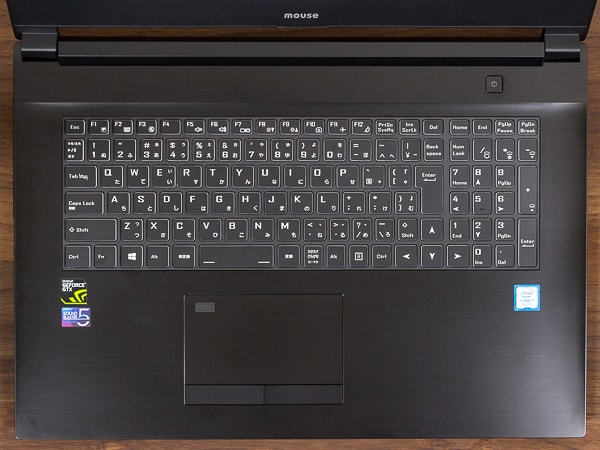 m-Book W890 キーボード
