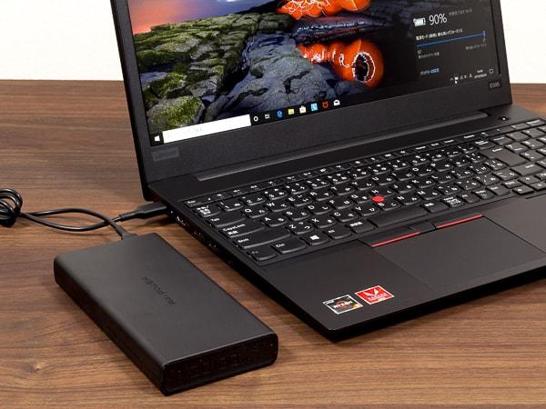 ThinkPad E595 Type-C充電
