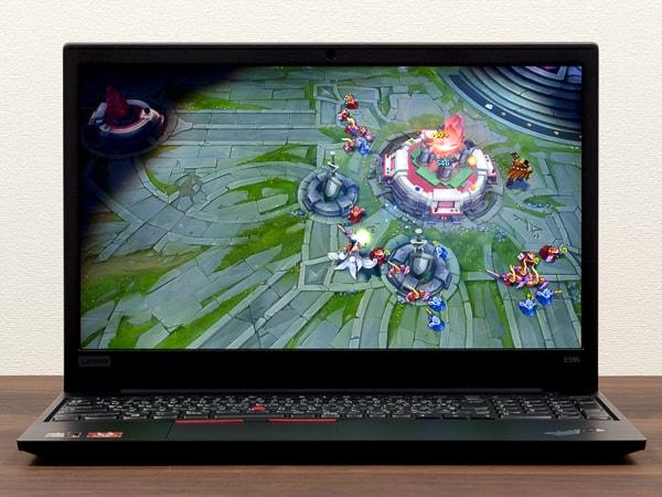 ThinkPad E595 LoL FPS計測結果
