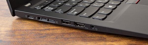 ThinkPad T490s 左側面