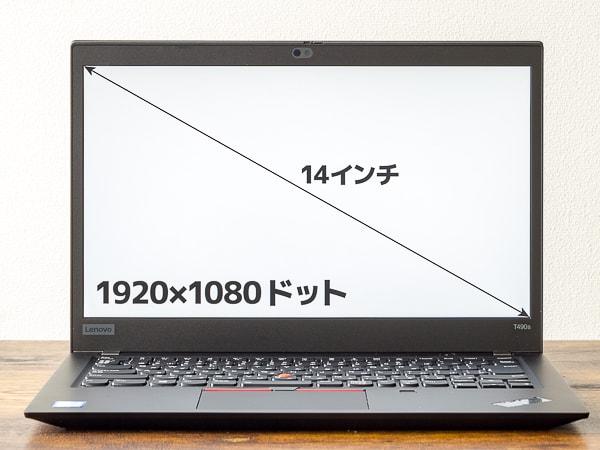 ThinkPad T490s 液晶ディスプレイ