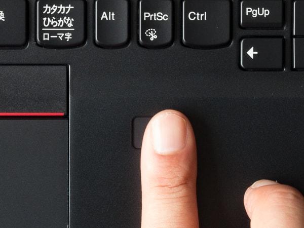 ThinkPad T490s 指紋センサー