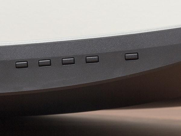 HP 34f カーブドディスプレイ OSDボタン