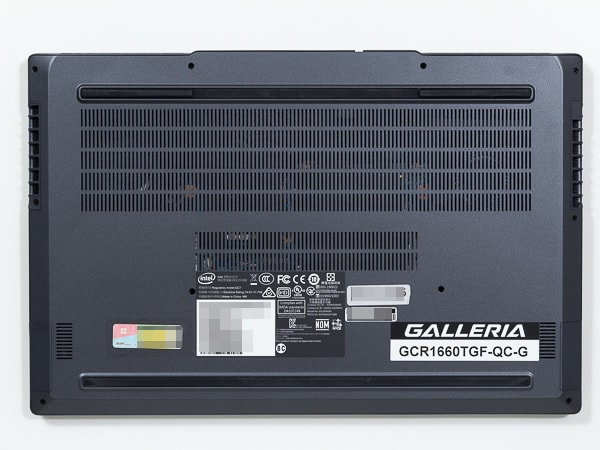 GALLERIA GCR1660TGF-QC-G 底面部
