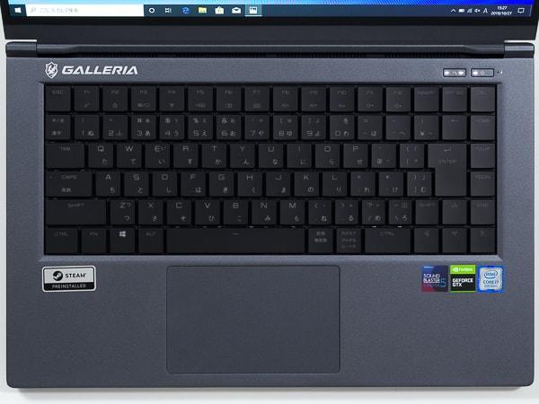 GALLERIA GCR1660TGF-QC-G キーボード