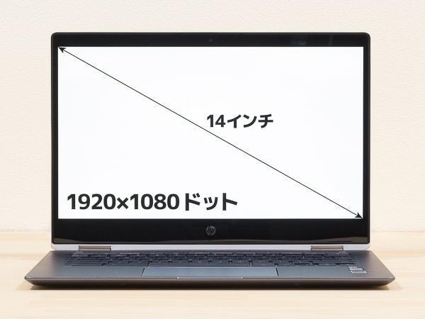 HP Chromebook x360 14 液晶ディスプレイ