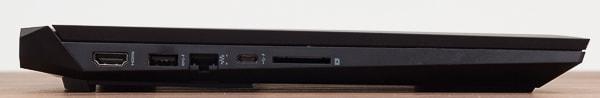 HP Pavilion Gaming 15-dk0000 左側面