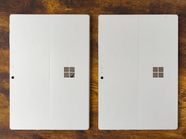 Surface Pro 7 旧モデルと比較