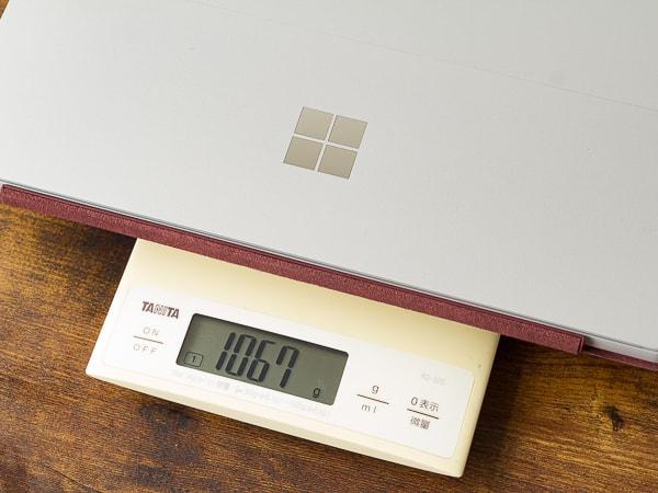 Surface Pro 7 重さ