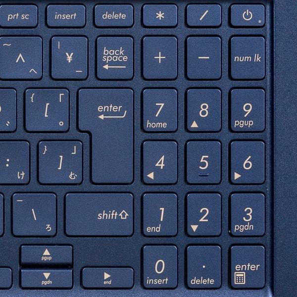 ZenBook 15 UX534FT テンキー