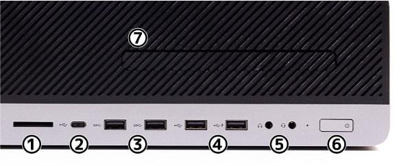 HP EliteDesk 800 G5 SF 前面