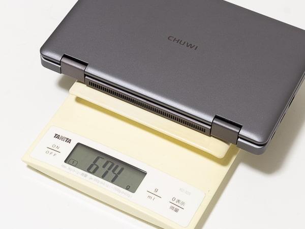 CHUWI MiniBook 重さ