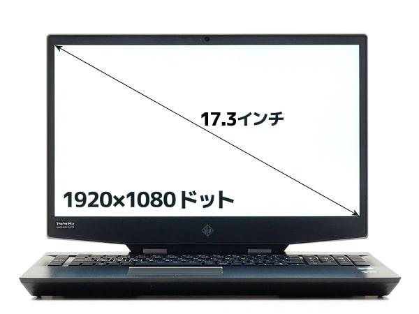 HP OMEN 17 画面サイズ