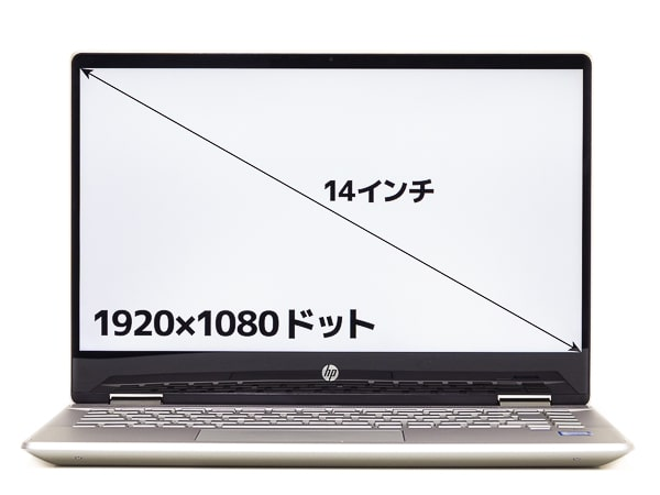 HP Pavilion x360 14 液晶ディスプレイ