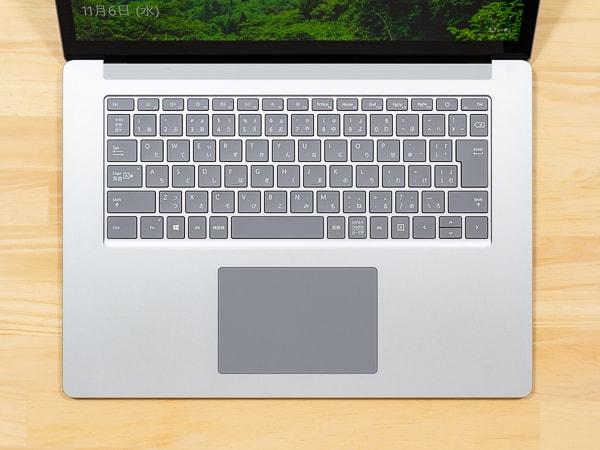 Surface Laptop 3 15インチモデル キーボード面