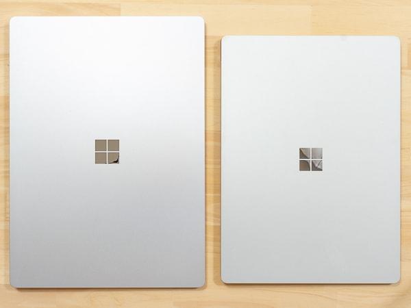 Surface Laptop 3 15インチモデル サイズ比較