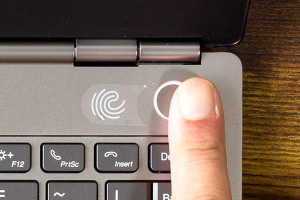 ThinkBook 13s 指紋センサー