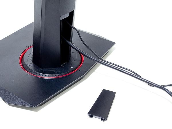 TUF Gaming VG27AQ ケーブル穴