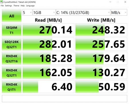 CHUWI UBook Pro アクセス速度