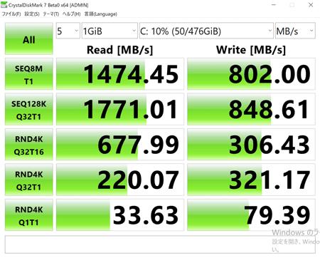 HP ENVY x360 13-ar0000 アクセス速度