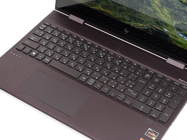 HP ENVY x360 15 (AMD) パームレスト