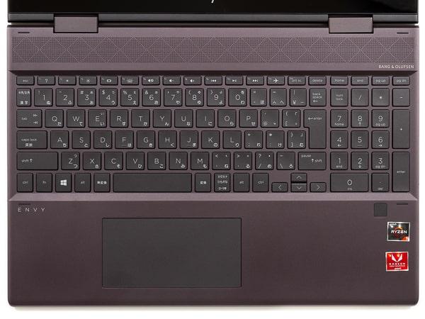 HP ENVY x360 15 (AMD) キーボード