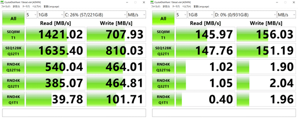 Dell G7 17 7790 アクセス速度